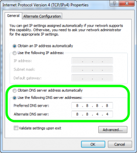 Win7 Network Settings